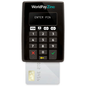 Wordlpay Zinc card reader machine