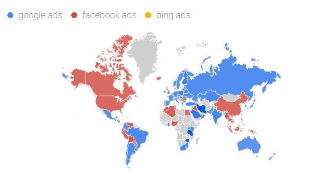Google Ads vs Facebook Ads vs Bing Ads - What is the number one paid marketing channel worldwide? 2